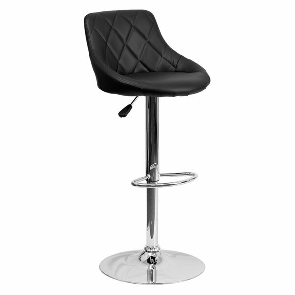 Morley Modern Adjustable Height Swivel Bar Stool (Set of 2) by Orren Ellis
