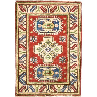 Compare & Buy One-of-a-Kind Alayna Hand-Knotted 2'10 x 4' Wool Beige/Blue/Red Area Rug By Isabelline
