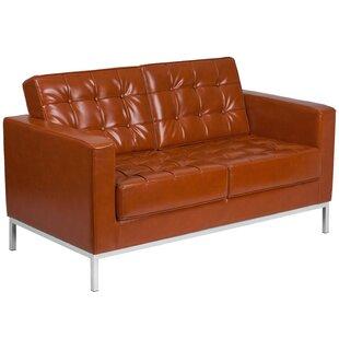 Pyron Leather Loveseat