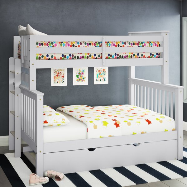 Treva Twin Over Full Bunk Bed with Trundle by Harriet Bee