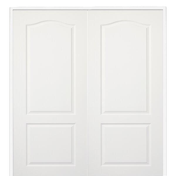 Princeton Eyeborw Top Primed Double MDF Panelled Prehung Interior Door by Verona Home Design