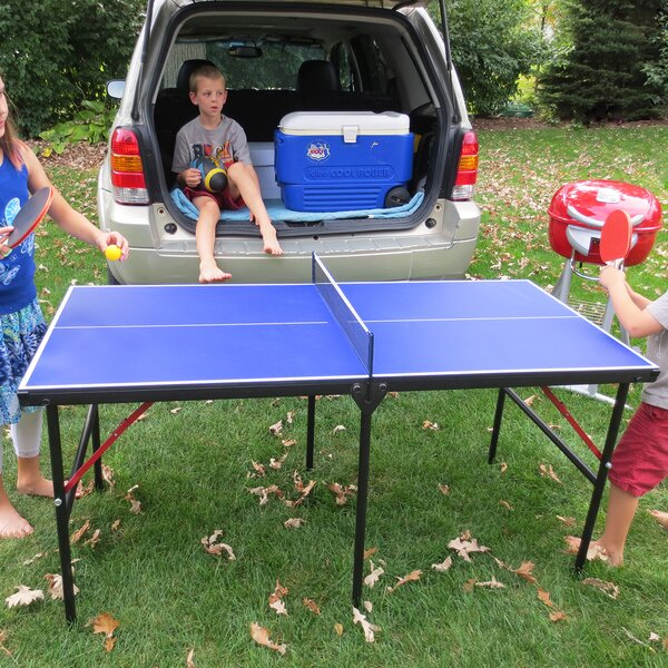 Folding Mini Table Tennis Table by Hathaway Games