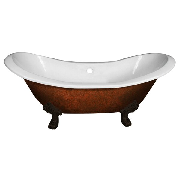 Cast Iron Double Ended Slipper 71 x 30 Freestanding Soaking Bathtub by Cambridge Plumbing
