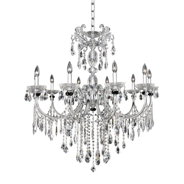 Steffani 10-Light Candle Style Classic / Traditional Chandelier by Allegri by Kalco Lighting Allegri by Kalco Lighting