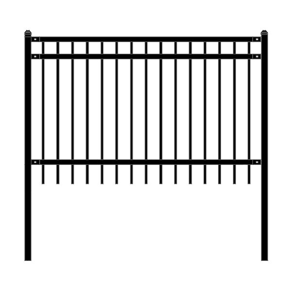 6 ft. W Nice DIY Unassembled Steel Fence Panel by ALEKO