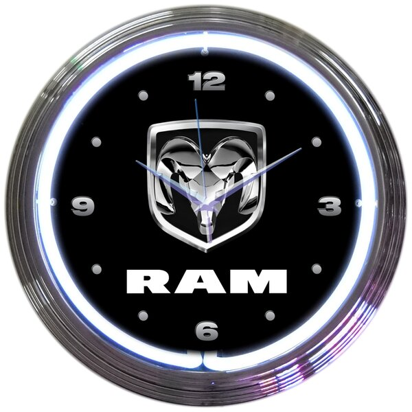 15 RAM Neon Clock by Neonetics