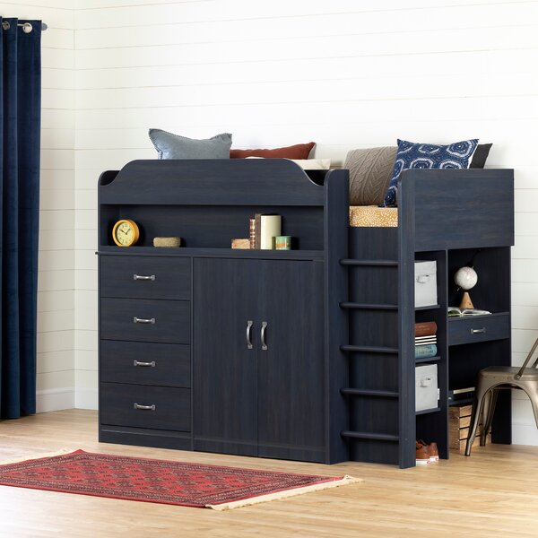 Asten Twin Loft Bed With Desk by South Shore