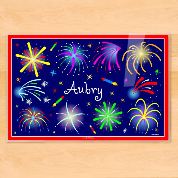 4th of July Fireworks Personalized Placemat by Olive Kids