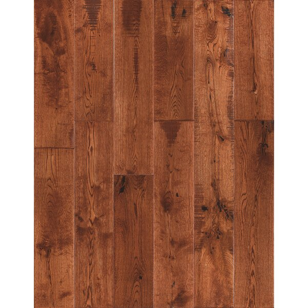 Jasmine 6 Engineered Oak Hardwood Flooring in Distressed Caramel by Welles Hardwood
