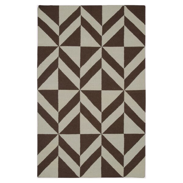 Hand-Woven Brown Area Rug by The Conestoga Trading Co.