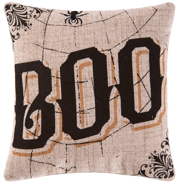 Goth Boo Halloween Throw Pillow by C&F Home