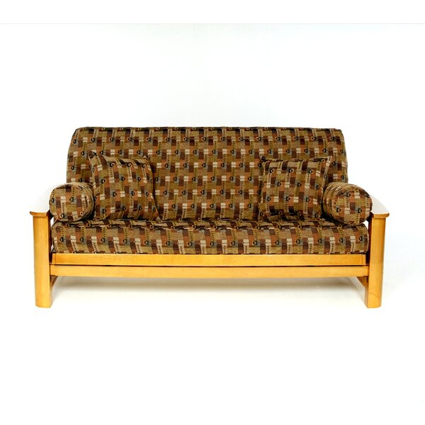 Jaya Box Cushion Futon Slipcover by Lifestyle Covers