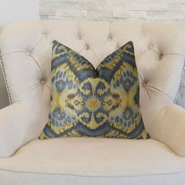 Rhythm Waves Double Sided Throw Pillow by Plutus Brands