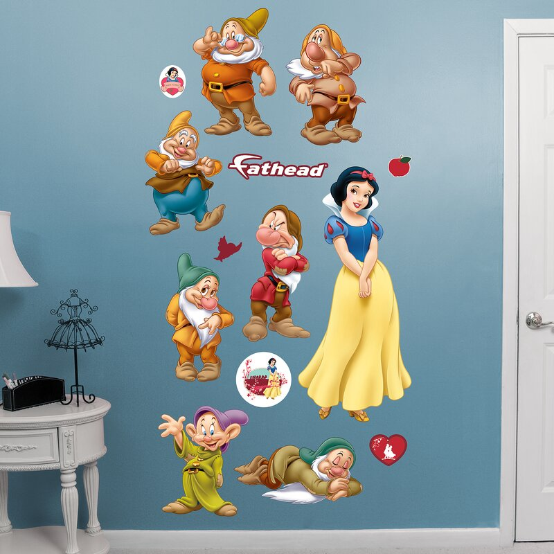 Amazing Disney   Snow White And 7 Dwarfs Peel And Stick Wall Decal Part 12