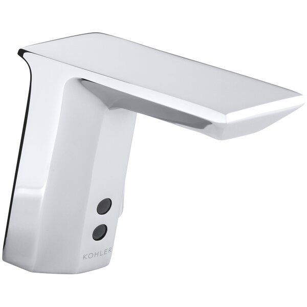 Geometric Single-Hole Touchless Hybrid Energy Cell-Powered Commercial Bathroom Sink Faucet with Insight Technology, Temperature Mixer and 6-3/4 Spout by Kohler