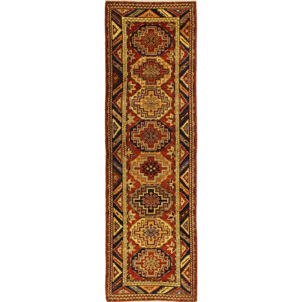 One-of-a-Kind Sheen Hand Woven Wool Red/Yellow Area Rug by Isabelline