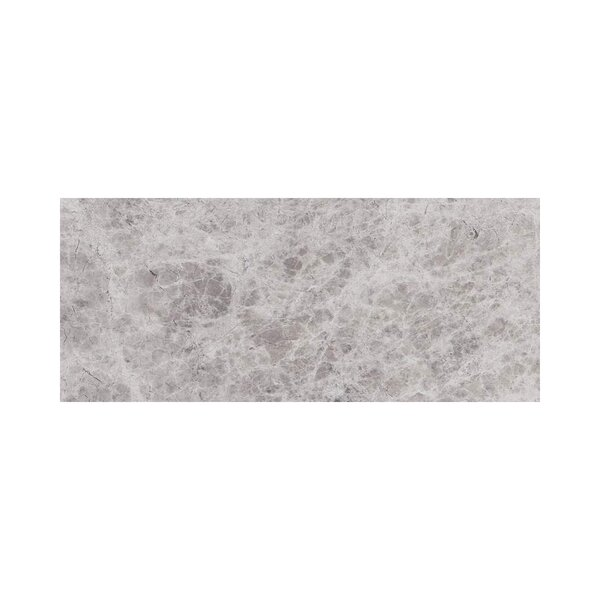 3 x 12 Marble Subway Tile in Silver Shadow by Ephesus Stones