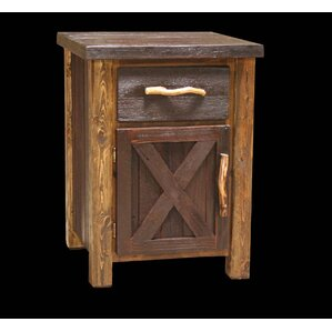Barnwood 1 Drawer Nightstand by Utah M..