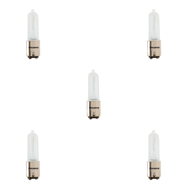 150W BA15d Dimmable Halogen Capsule Light Bulb Frosted (Set of 5) by Bulbrite Industries