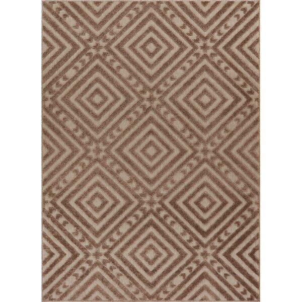 Dorado Metier Modern Geometric/Trellis High-Low Beige Indoor/Outdoor Area Rug by Well Woven