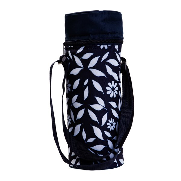 Insulated Floral Wine Tote by Zees Inc.