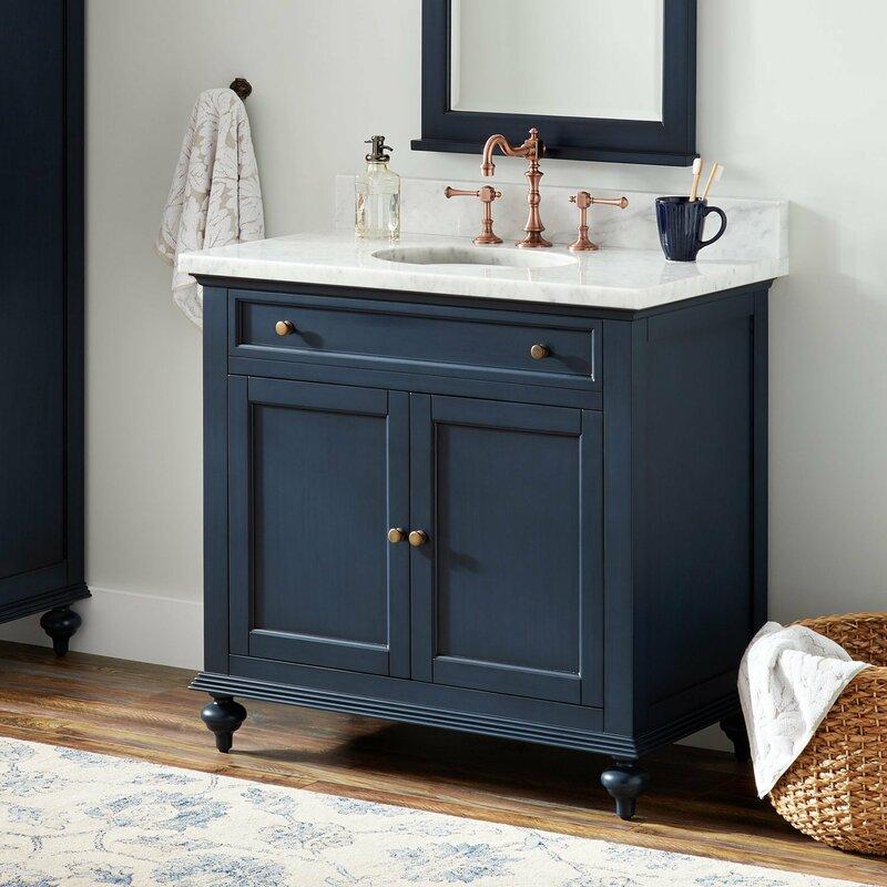 Signature Hardware Keller 37 Single Bathroom Vanity Set Reviews Wayfair