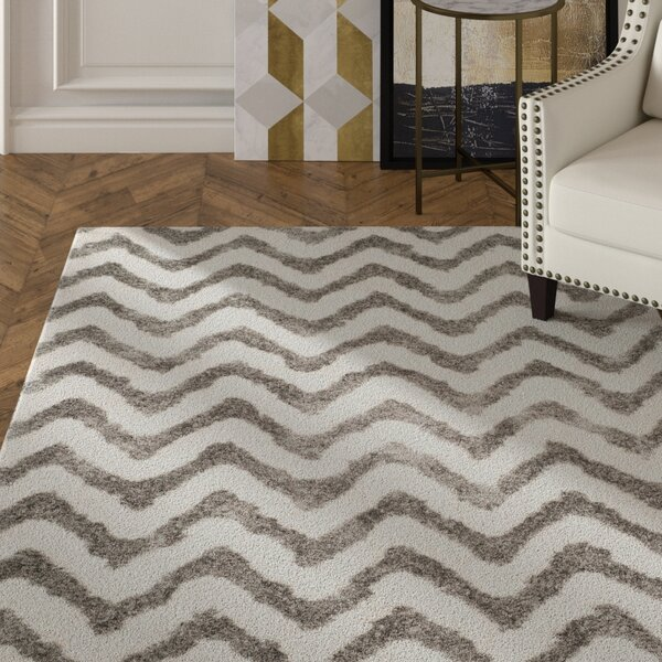 Hempstead Hand-Tufted Gray/White Area Rug by Mercer41