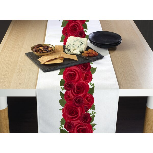 Ingham Rose Garland Border Table Runner by Alcott Hill
