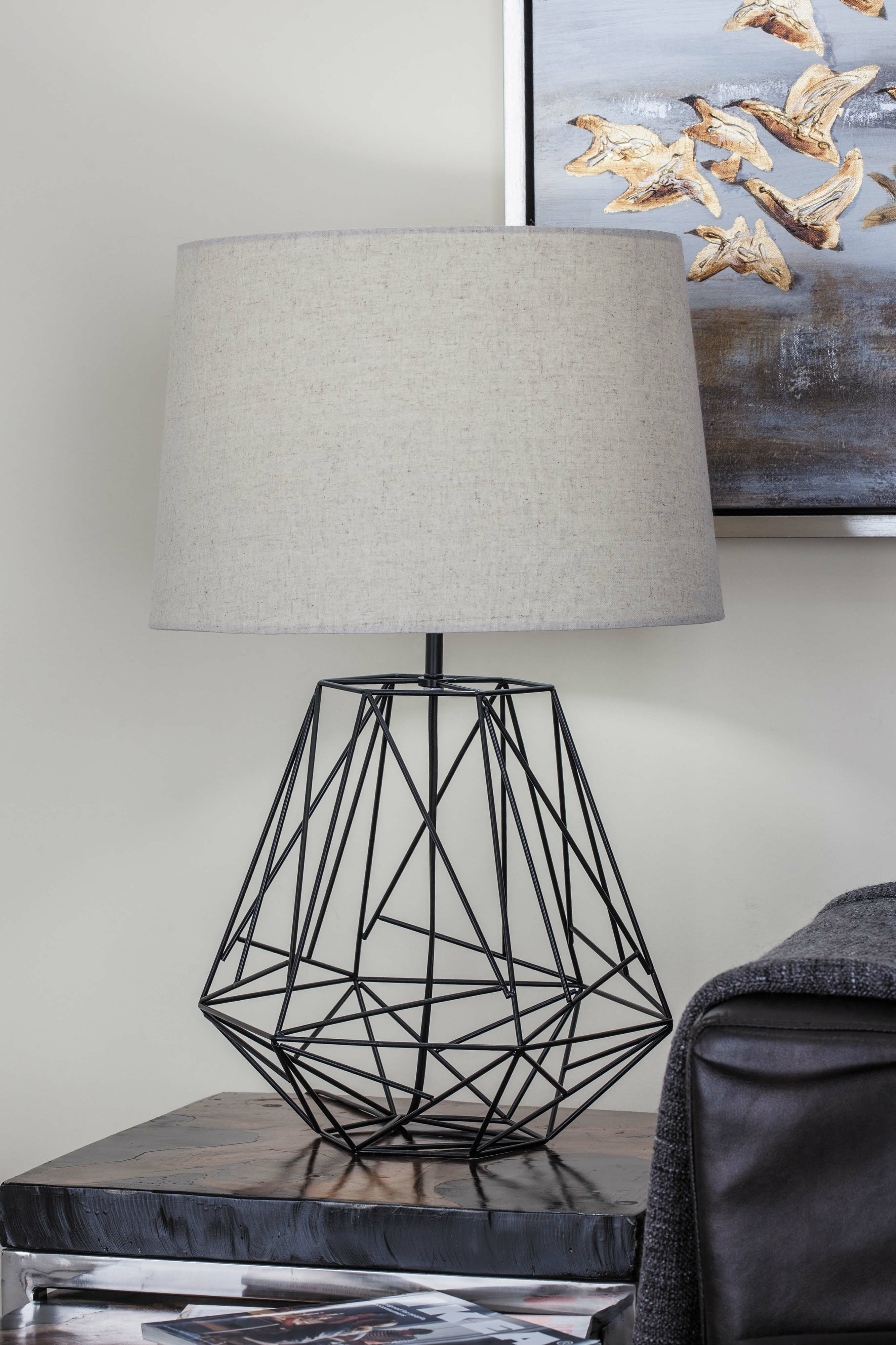 Cole grey metal wire 25 table lamp reviews wayfair greentooth Images