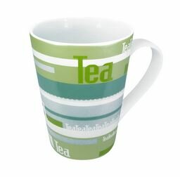Tea Stripes 13 oz. Mug (Set of 4) by Konitz
