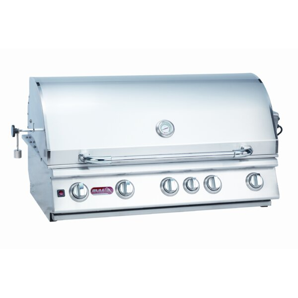 Brahma 5-Burner Built-In Propane Gas Grill by Bull