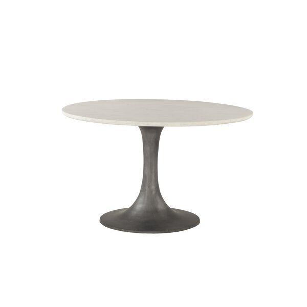 Claypool Marble and Steel Dining Table by Gracie Oaks