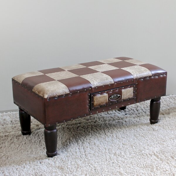 Stone Castle Faux Leather Bench by Astoria Grand