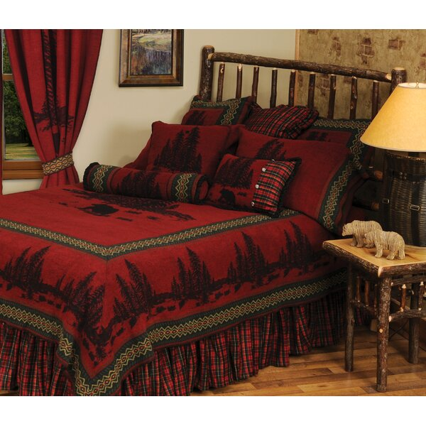 Wooded River Bear 4 Piece Coverlet Set