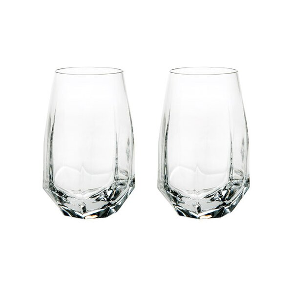 Gemstone 11 oz. Crystal Highball Glass (Set of 2) by Vista Alegre