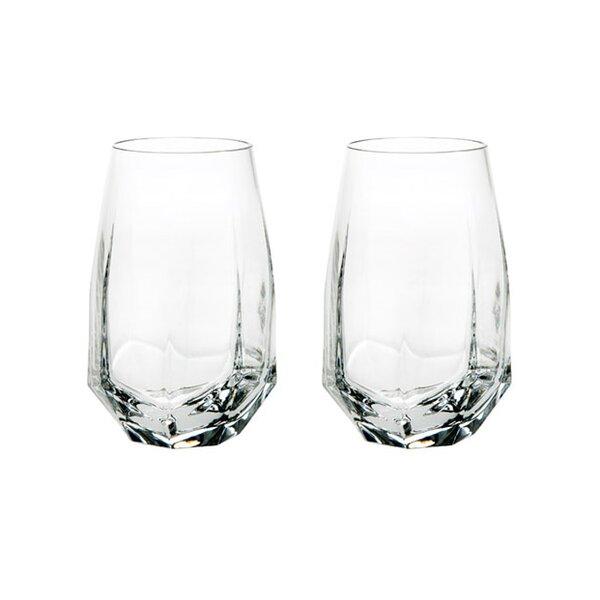 Gemstone 11 oz. Crystal Highball Glass (Set of 2) by Vista Alegre