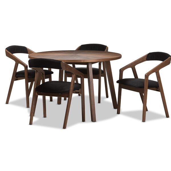 Averi Mid-Century Modern 5 Piece Breakfast Nook Dining Set by Corrigan Studio