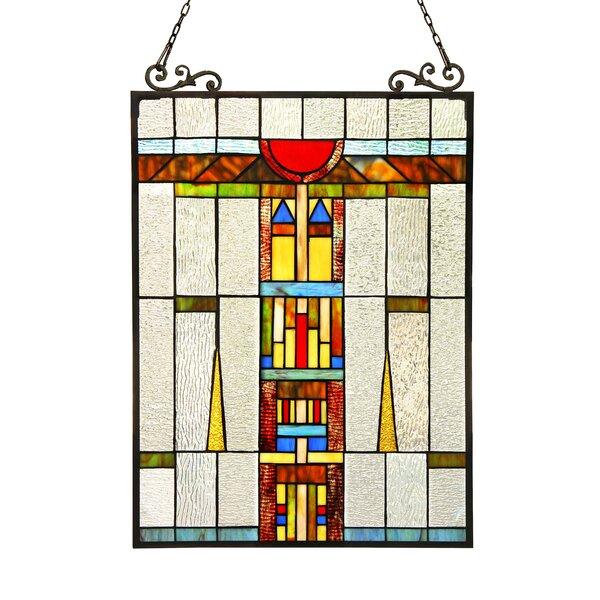 Tiffany Glass Window Panel by Astoria Grand