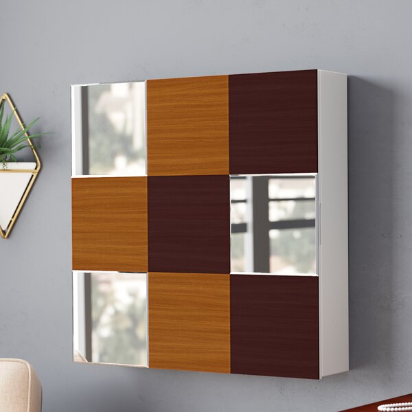 Caviness Wall Mounted Jewelry Armoire with Mirror by Orren Ellis