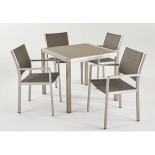 Schrimsher 5 Piece Patio Dining Set By Orren Ellis