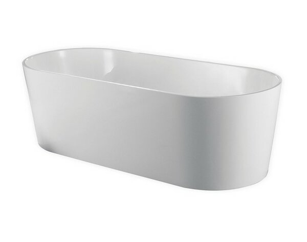 Ovale 66.25 x 31.63 Soaking Bathtub by Kube Bath