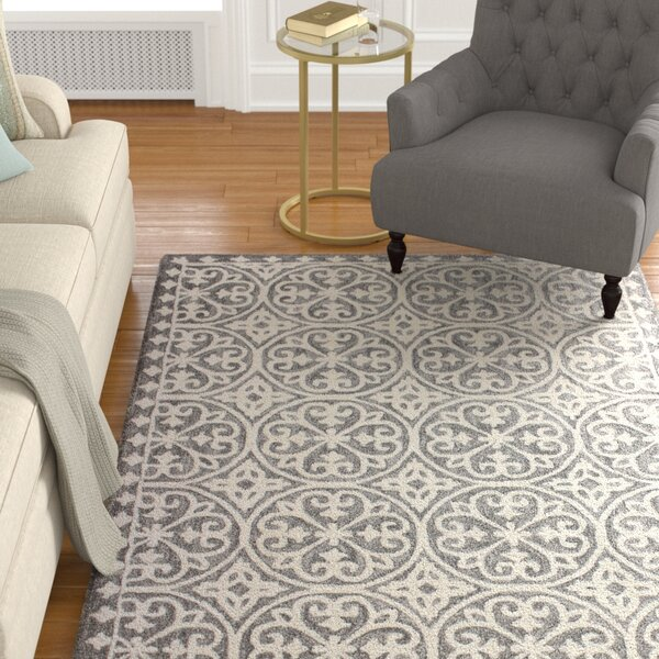 Dormont Hand-Tufted Gray Area Rug by Alcott Hill