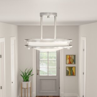 Dimmable led ceiling light wayfair wirrian 1 light dimmable led semi flush mount aloadofball