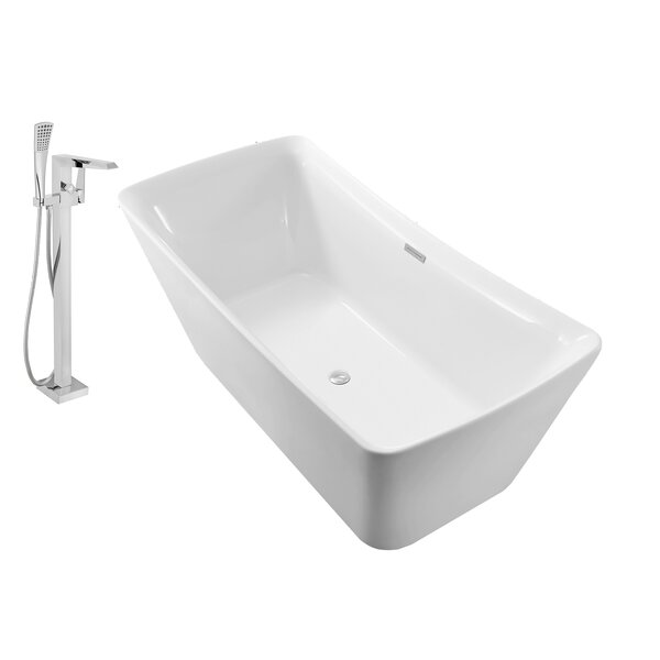 62 x 25 Freestanding Soaking Bathtub by Wildon Home ®