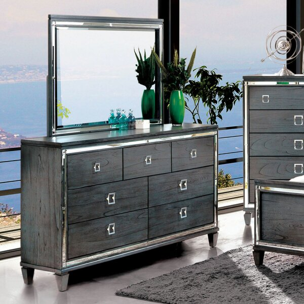 Tidore 7 Double Dresser with Mirror by Mercer41