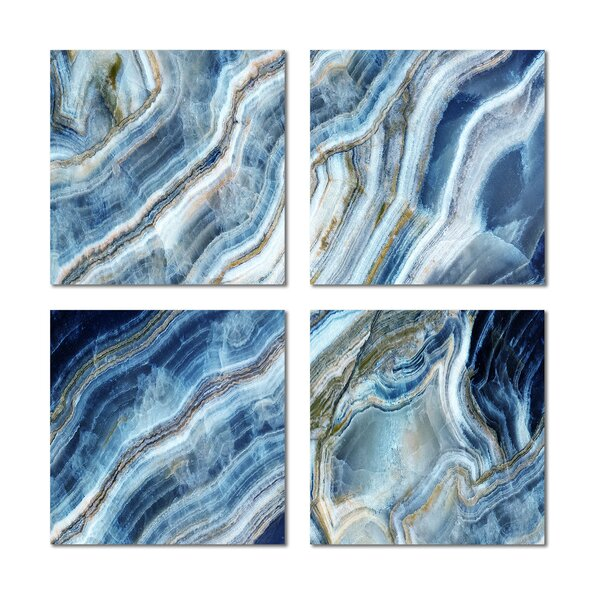 6 x 6 Beveled Glass Field Tile in Blue by Upscale Designs by EMA