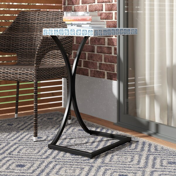 Sharen Outdoor End Table by Ivy Bronx