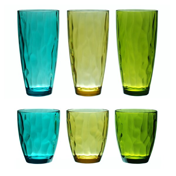 Stansel 6-Piece 14 oz. Acrylic Drinking Glass Set (Set of 2) by Latitude Run