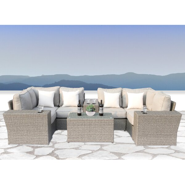 Winsford 10 Piece Sectional Seating Group with Cushions by Rosecliff Heights