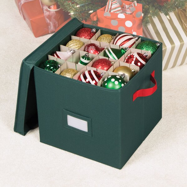 Holiday 64 Compartment Cube Ornament Storage by Ri
